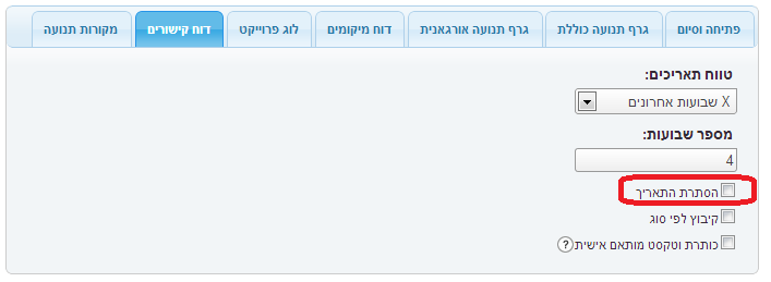 זפו קידום אתרים - בחירת תאריכים רלוונטים