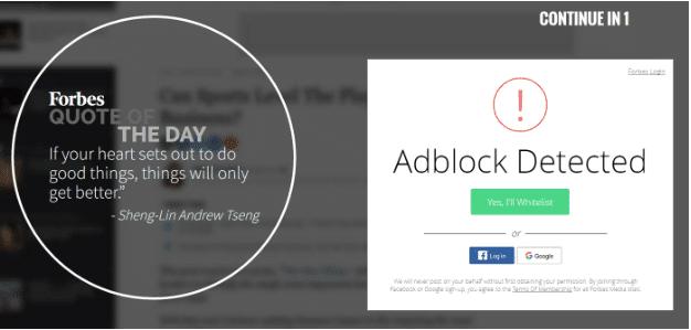 Forbes Adblock