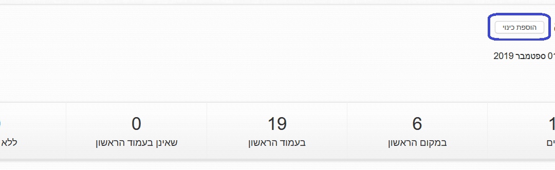 זפו - הוספת כינוי לכתובת אתר