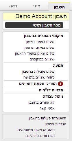 זפו - עוד אפשרויות אתר